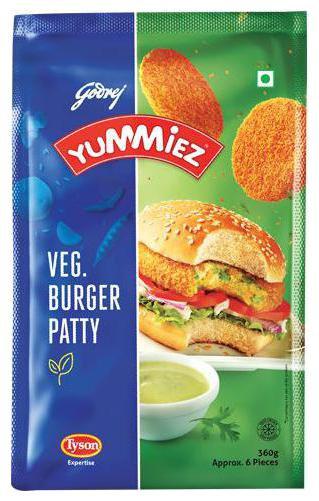 YUMMIEZ VEG BURGER PATTY 360 gm