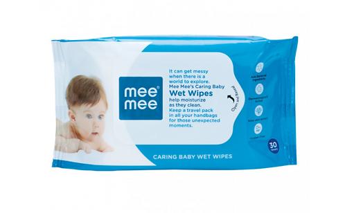 CARING BABY WIPES WITH ALOE VERA (30 PCS)