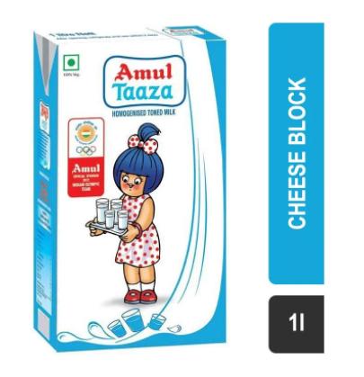 Amul Taaza Toned Milk (Tetra Pak)