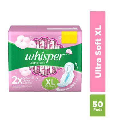 Whisper Ultra Soft Sanitary Pads (XL) - 50 Pads
