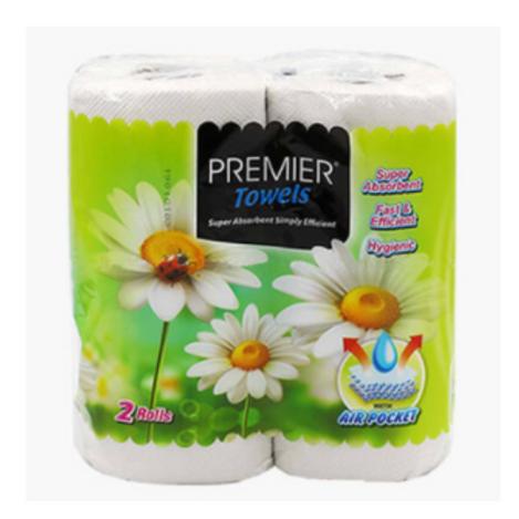 Premier Kitchen Towel Tissue Paper - 2 Rolls