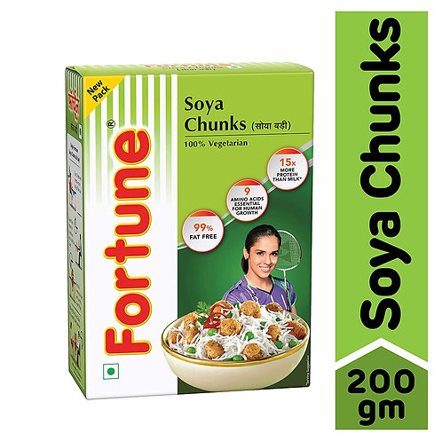 FORTUNE Soya Chunks  - 200 gm
