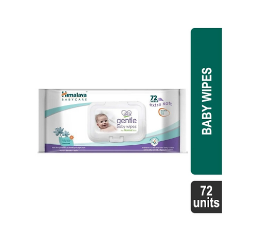 Himalaya Gentle Baby Wipes - 72 Units
