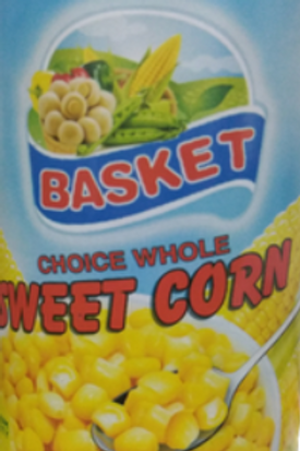 Basket Choice Whole Sweet Corn 425 gm