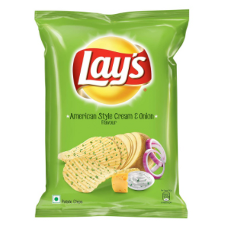 Lay's Potato Chips American Style Cream and Onion Flavour - 78 gm