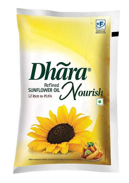 Dhara Sunflower Refined Oil - 1 L