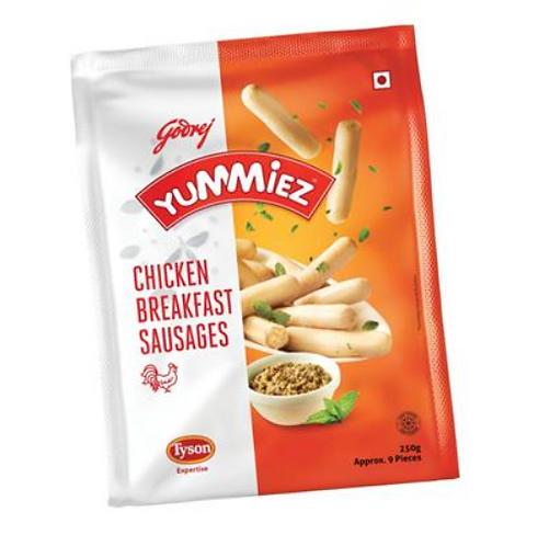 YUMMIEZ CHCKN PLAIN SAUSAGES 250 gm