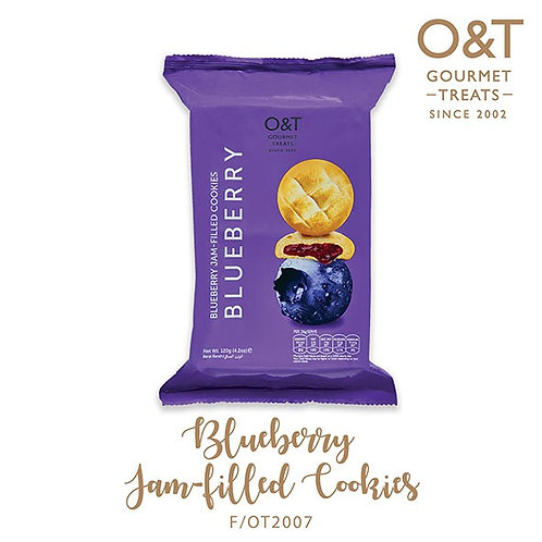 O&T Bluberry Jamfilled Cookies - 10 Pcs Pack