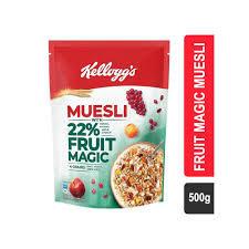 Kelloggs Muesli with 22% fruit magic