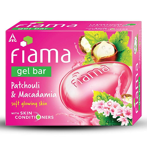 Fiama Gel Bar, Patchouli and Macadamia, 125g