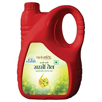 Patanjali Fortified Mustard Oil, 5 L Jar