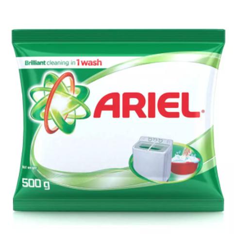 Ariel Detergent Powder, 500 gm