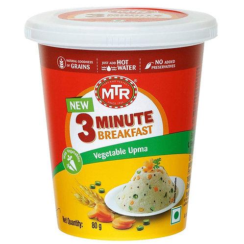 MTR 3 Minute Breakfast Vegetable Upma Cup, 80g