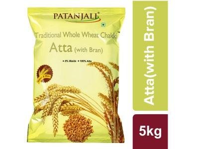 Patanjali whole wheat chakki Atta with Bran - 5 Kg