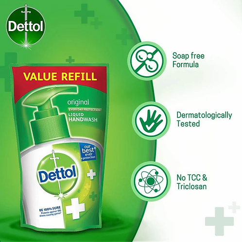 Dettol Liquid Original Hand wash Value refill 175 ml