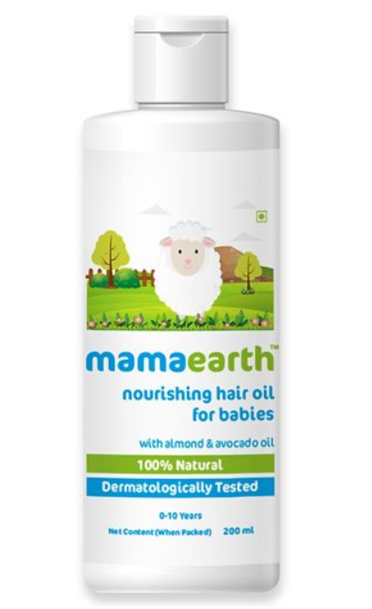 Mama Earth Nourishing Baby Hair Oil White - 100 ml