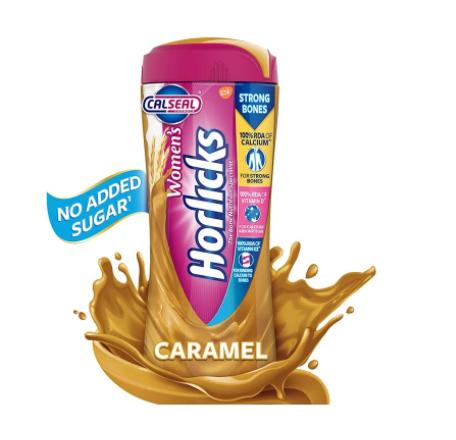 Women's Horlicks Caramel, Health & Nutrition Drink (Jar) - 400 gm