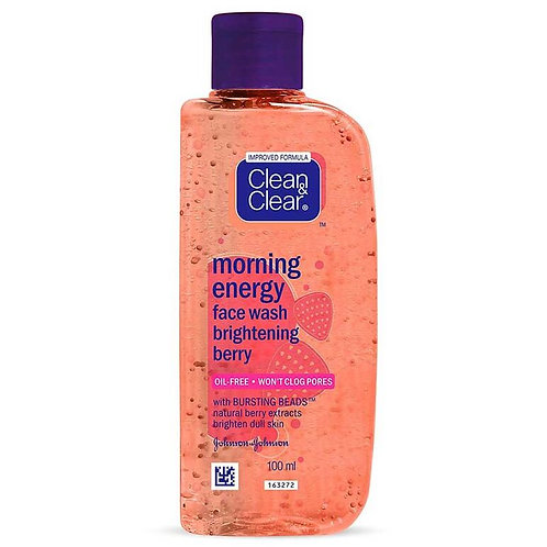 Clean & Clear Morning Energy Berry Face Wash, 100 ml