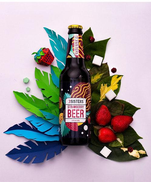 Zero Alcohol Strawberry Beer - 330 ml