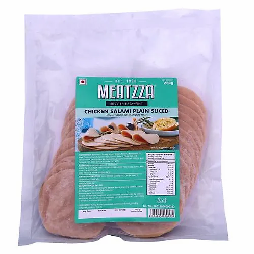 Meatzza Chicken - Salami Plain Slice, 250 g