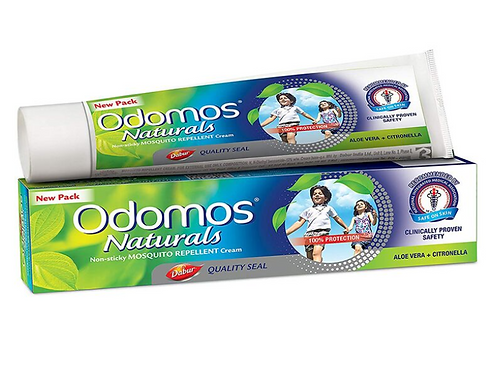 Odomos Naturals Non-Sticky Mosquito Repellent Cream - 50 gm