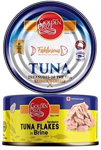 Golden Prize Tuna Sandwich Flakes in Brine, 185g