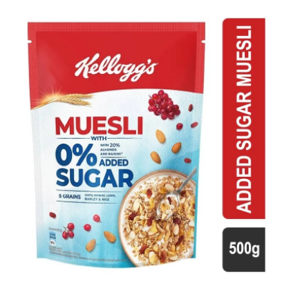 Kellogg's with 0% Added Sugar Muesli - 500 g