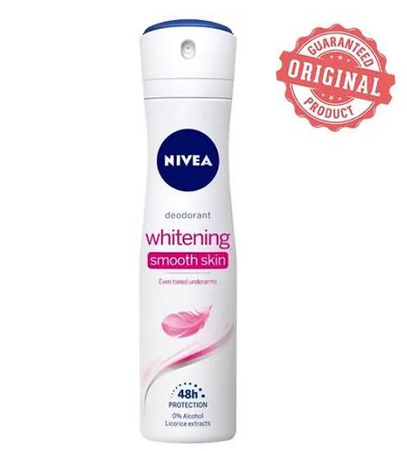 Nivea Deodorant - Whitening Smooth Skin, Women, 150 ml Tin