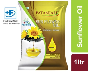 Patanjali Sunflower Oil - 1 L Pouch