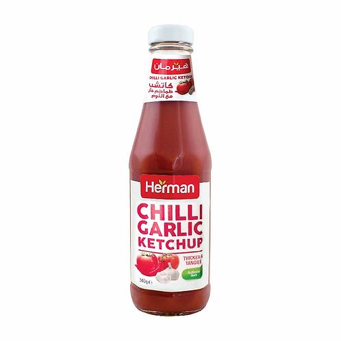 Herman Chilli Garlic Ketchup 340 gm