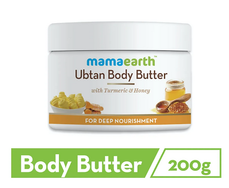 Ubtan Body Butter, For Dry Skin, With Turmeric & Honey, For Deep Nourishment.