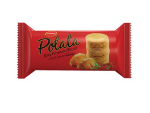 PRAN Potato Spicy Flavoured Biscuits - 50 gm
