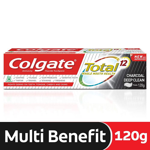 Colgate Total Whole Mouth Health ( Charcoal Deep Clean ) Toothpaste 120gm