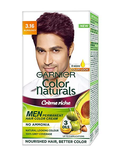 Garnier Color Naturals Men Shade 3.16 Burgundy, 30 ml + 30 gm