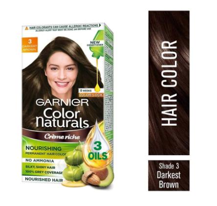 Garnier Color Naturals Crème Hair Colour (Shade 3 Darkest Brown)