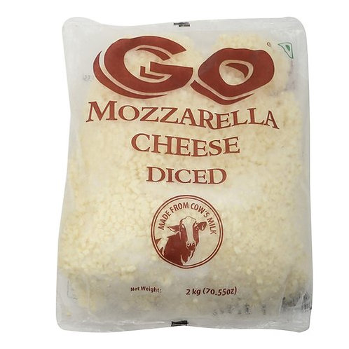 GO Cheese Mozzarella Dice 2 Kg