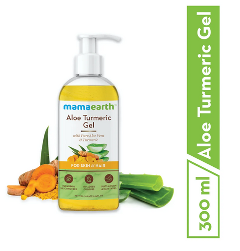 Aloe Turmeric Gel for Skin & Hair 300ml (Saver Pack, get 20% extra)