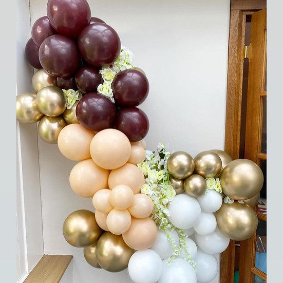 Luxury burgundy and blush balloon garland kit
