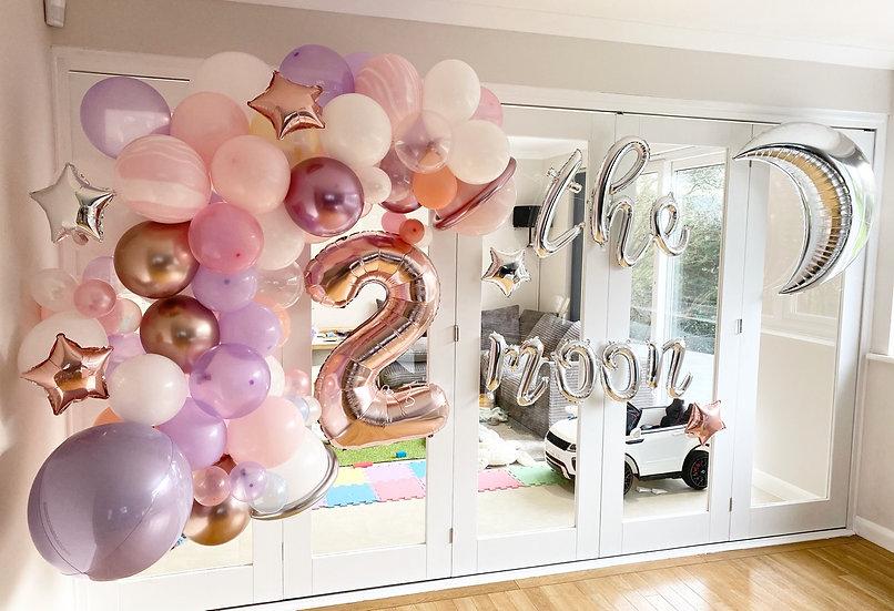 Pretty Space Themed Balloon Garland
