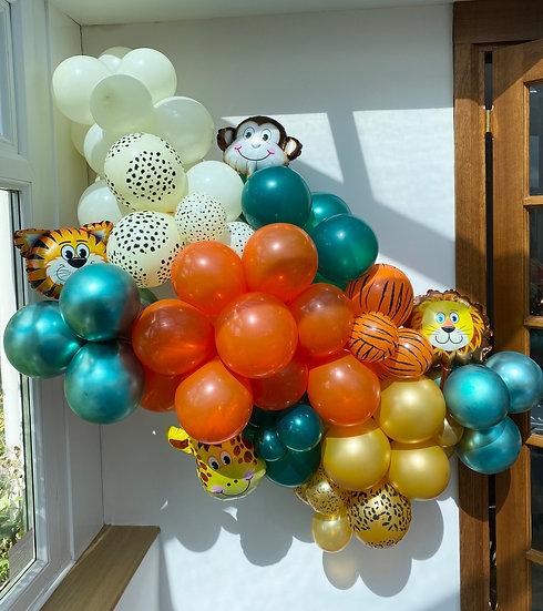 Luxury safari theme balloon garland kit