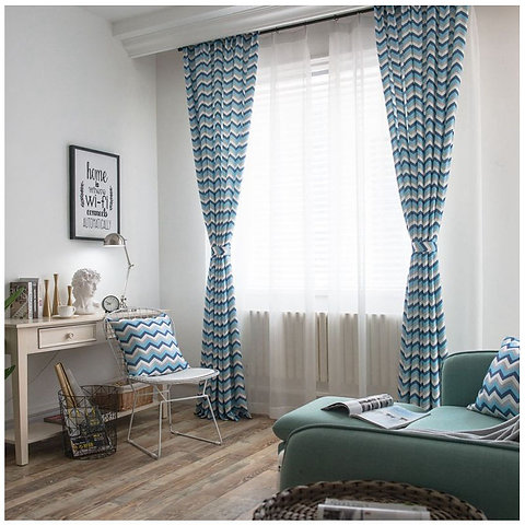 STRIPED blackout curtain ,living room curtain, bedroom curtains,curtain  panels