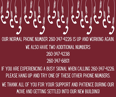 Our normal phone lines are still down (2