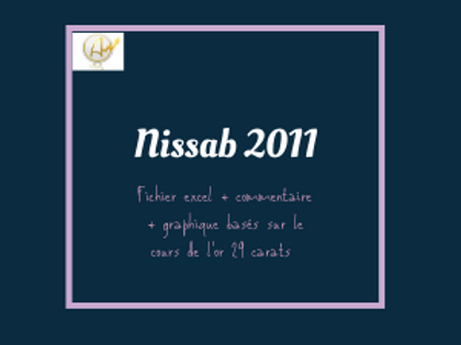 Nissab Moyen en 2011 (étude complète)