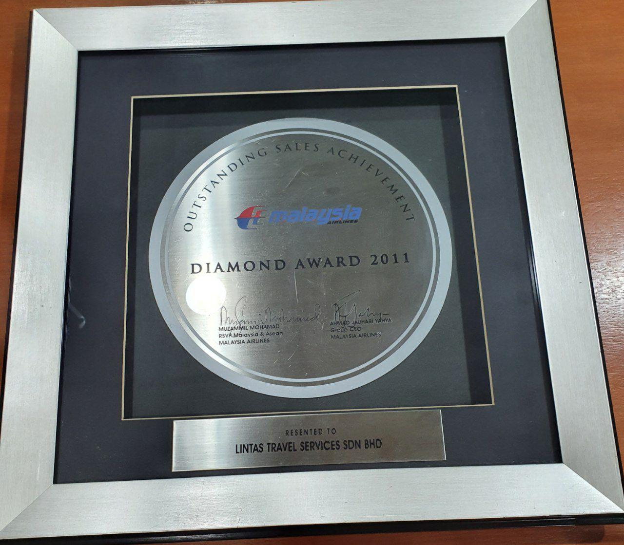 Malaysia Airlines Diamond Award