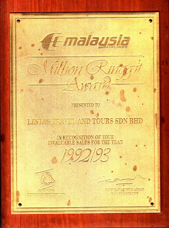 MAS Million Ringgit Award