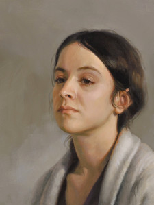"""Emma, triptych Private collection 16x46"""" Oil on linen  2nd Place, Portrait Society of America"""
