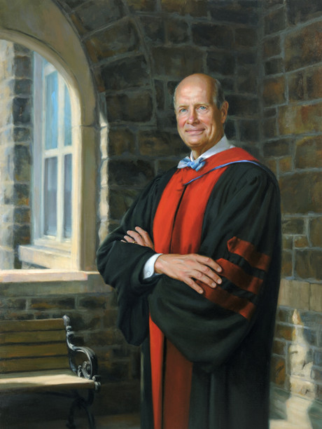 "The Reverend Dr. Christopher Thomforde President, Moravian College Bethlehem, Pennsylvania 63x40"" Oil on linen"