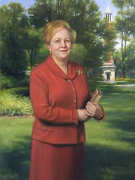 "Judith Bonner Ph.D., President, University of Alabama Tuscaloosa, Alabama 44x32"" Oil on linen"