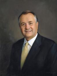 """Stuart Olds, President-CEO Katz Media Group New York, New York 26x22"""" Oil on linen"""