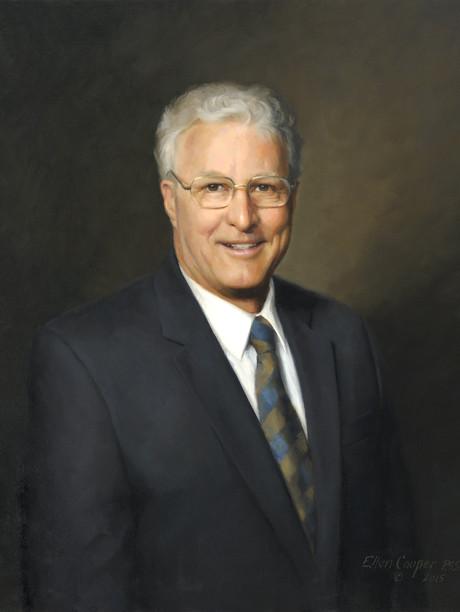 "John Stenger, Esq., Former President The Buffalo Club (posthumous) Buffalo, New York 29x25"" Oil on linen"